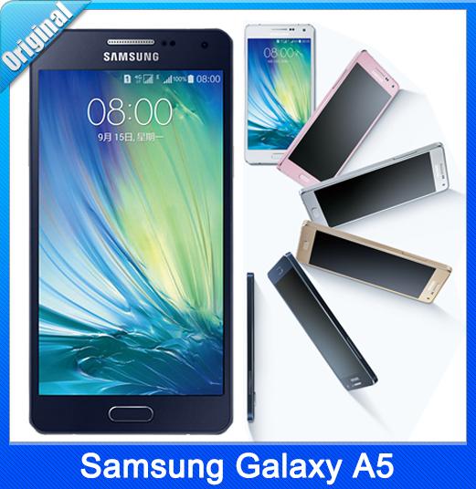 100% Original Samsung Galaxy A5 / A500F Android 4.4 OS 5.0 Inch 2GB RAM 16GB ROM 4G 13.0MP Camera Mobile Phone Free Shipping(China (Mainland))