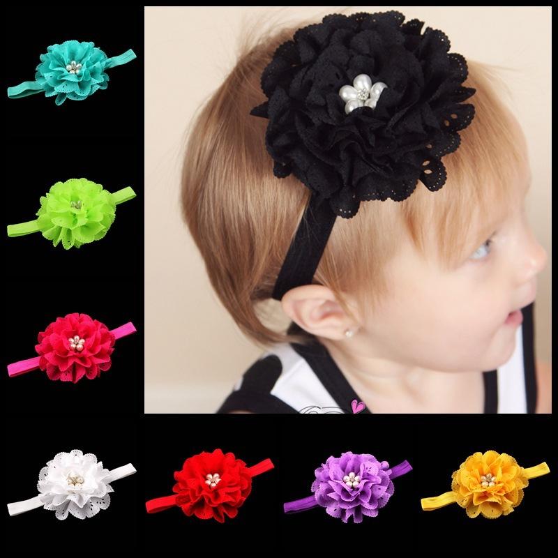 Hot Selling High quality headband Baby Hair Accessories 15 color Pearl Diamond Tiara Kid Hair Bands(China (Mainland))