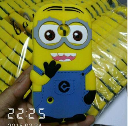For Nokia 530 Case 3D Cartoon Despicable ME 2 Minions Soft Rubber Silicone Cover Case For Nokia Lumia 530 Dual RM-1019 1017(China (Mainland))
