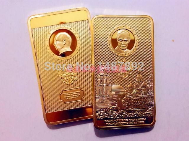 Hot selling Russian bar Free shipping President putin gold bar Minimum quantity 20pcs(China (Mainland))