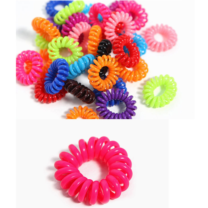 10Pcs/lot Fashion Cute Candy Color Hair Jewelry Headbands Telephone Line Hair Rope For Women Hair Band(China (Mainland))