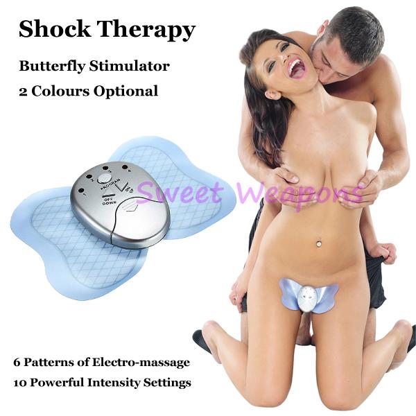 vlinder vermagering stimulator elektrische schok electro shock therapie kit stimulatie clitoris stimulator sex toys sex producten(China (Mainland))
