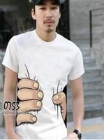 O-Neck print short sleeve 3D t shirt men new 2015 summer fashion Casual man t-shirt tops male clothes tshirt 8288