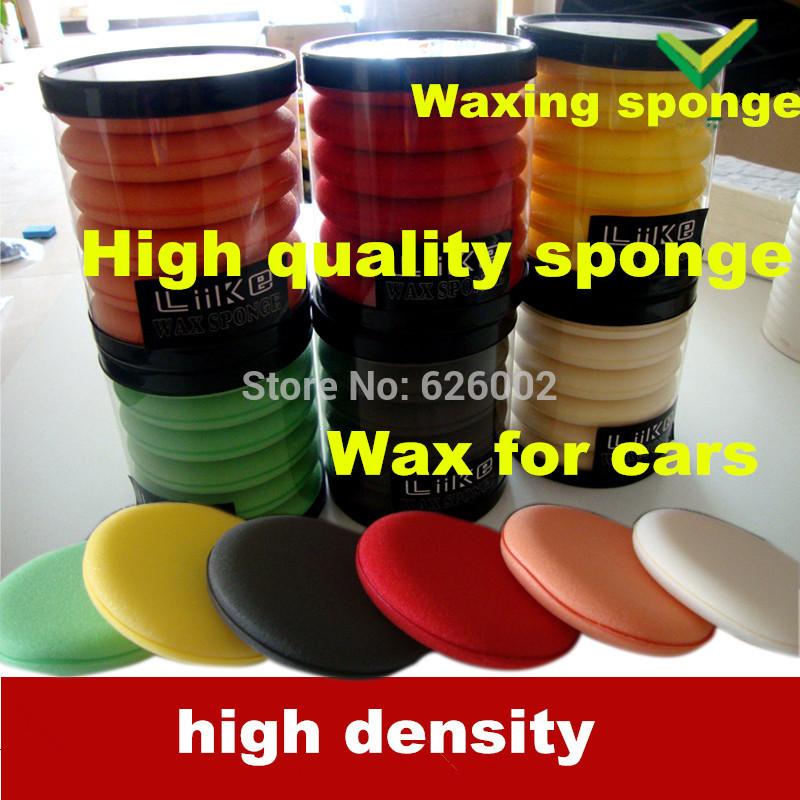 6pcs/tube Multicolour foam car wax sponge no deformation water absorption car care polish factory quality(China (Mainland))
