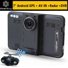 7 » HD 1080 P андроид автомобильный видеорегистратор записи видеокамер заднего вида борьбе радар-детектор автомобилей GPS навигация грузовик GPS Navi 16 ГБ