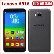 "Original Lenovo A916 4G LTE FDD Celll Phone MTK6592 Octa Core 1GB RAM 8GB ROM 5.5"" Screen 1280×720 13MP Android 4.4 Smatphone"
