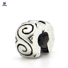 1pc Fashion Jewelry 925 Clips Locks Beads Alloy Charm European Swirl Shape Stopper Bead Fit Pandora Bracelets & Bangles