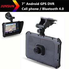 7 inch Android Car GPS Navigation 2G phone call Bluetooth 4.0 DVR Camera  Truck vehicle gps Navi FM MT8312/1024*600/8GB Free map