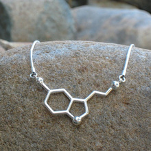 Dopamine Molecular Science Students Necklace Equation Chemical Structure Formula Love Necklace