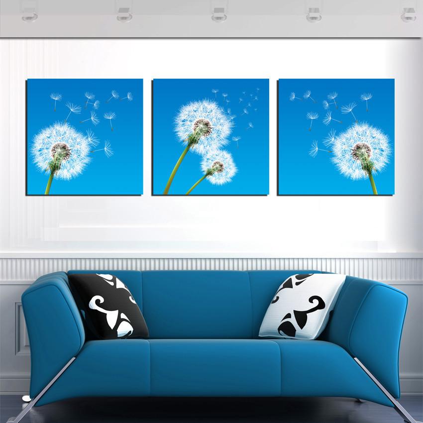 Online kopen wholesale paardebloem schilderij uit china paardebloem schilderij groothandel - Deco blauwe kamer ...