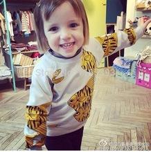 2015 NEW GIRLS SUMMER BRAND SWEATSHIRTS, MINI RODINI Yellow BLUE  Fishes Print SweatshirtS, GIRLS BOYS COTTON HOODIES(China (Mainland))