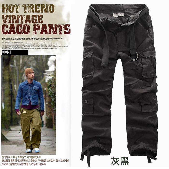 Baggy Khaki Cargo Pants For Men Mens Cargo Pants Baggy