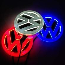 Free shipping 4D Volkswagen 4D logo lamp rear Emblems lighting vw 4D led logo Sticker badge Santana polo golf jetta lights(China (Mainland))