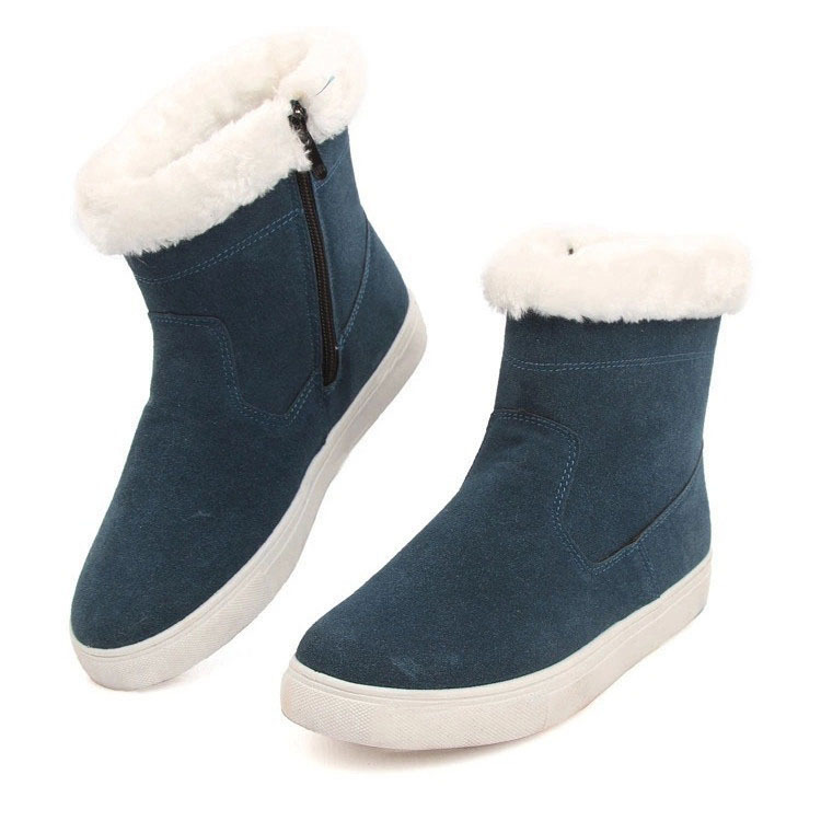 2014 fashion women winter ankle boots flat heels snow winter shoes woman boots for boys and girls Christmas gift 35-43(China (Mainland))
