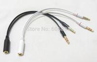 Free Shipping Jman 3.5 mm stereo mini jack 1 Female to 2 Male Y Splitter Earphone Audio Cable