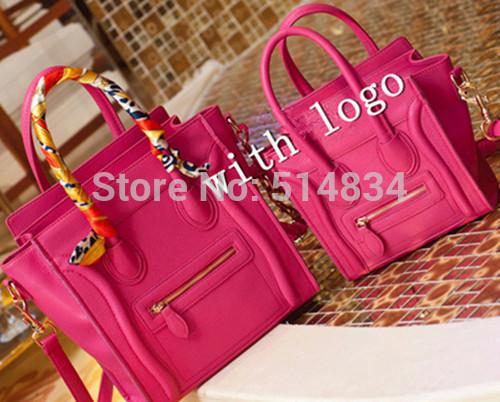 NEW arrival 2015 bolsa feminina Pu leather candy color shoulder smile bag women messenger smiley bags brand desigual handbags(China (Mainland))