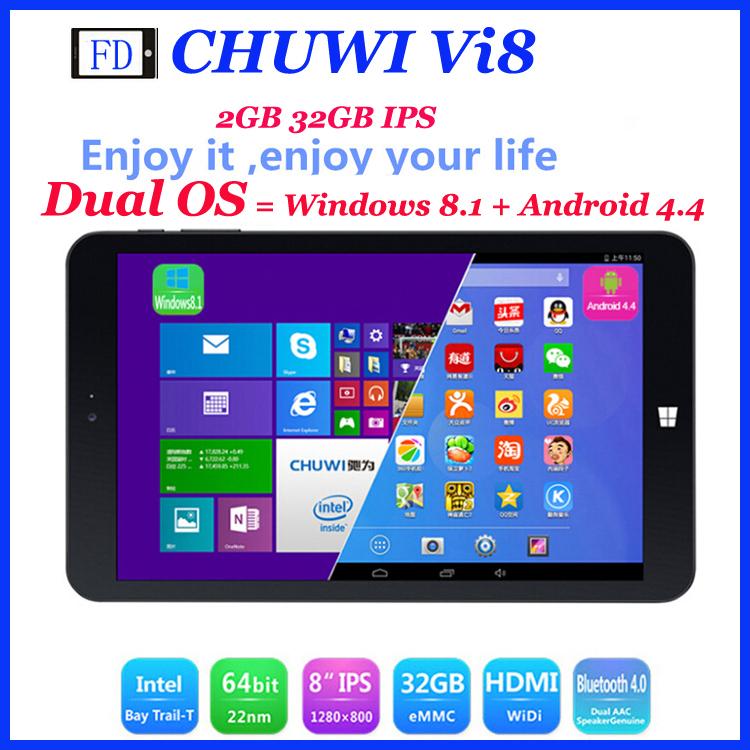 Планшетный ПК OS CHUWI VI8 Intel Z3735F Windows 8.1 + Android 4.4 2 32 IPS Bluetooth 4.0 CHUWI VI8 чехол для планшета chuwi vi8 vi8