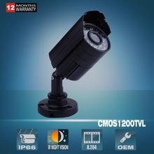 CCTV Camera 1200TVL With OSD 1/2.5′ COMS Sensor HD Outdoor Bullet Waterproof IR-CUT 24 IR leds mini Surveillance Security Camera