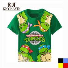 New Arrival Multicolors Colors 3 8 Year Boys Ninja Turtles T shirt Children Summer Cotton short