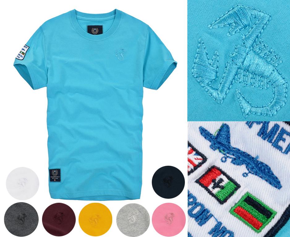 2015 Fashion Men' T Shirt Brand Aeronautica Militare T-Shirts Cotton O Neck tshirt Men Camiseta Short Sleeve Tees Shark Clothing(China (Mainland))