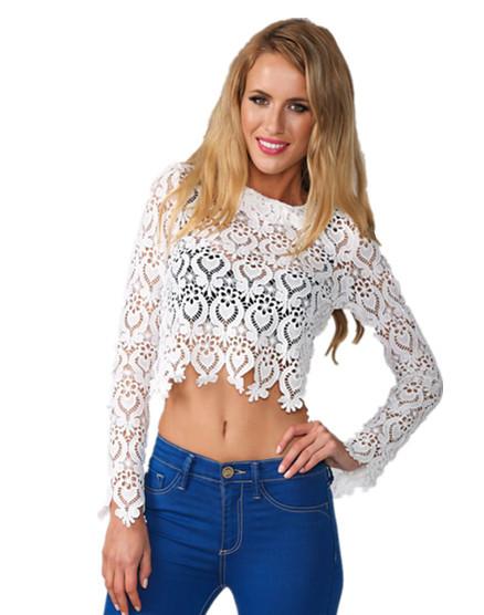 Женская футболка Dear-lover   Crop Top 2015 Sexy camisetas mujer LC25499 LC25499  Lace Crop Top женская футболка brand camisetas ropa mujer camisetas y ballinciaga 2015 ld226