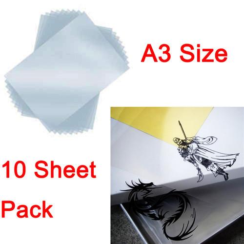 10 Sheet/Set A3 Mil Inkjet Printer Transparency Film Paper Screen Printing FT-100 Printing Super Transfer Film(China (Mainland))