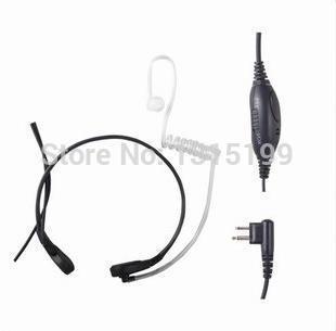 Throat Microphone Mic Earpiece Headset for Two Way Radio Motorola GP88 CP125 CP200 CP300 CT150 GP300 HYT TC-500 TC-600(China (Mainland))