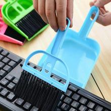 Mixed Order Retail Mini desktop  cleaning brush keyboard brush computer brush dustpan belt small  set(China (Mainland))