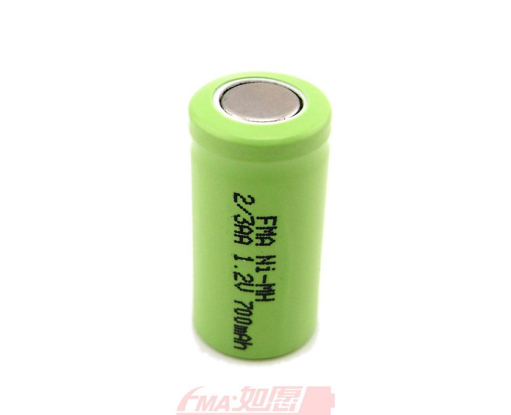 10Pcs Electric Shaver razor battery Ni-MH 2/3AA 1.2V 700mAh DIY Cordless phone cells(China (Mainland))