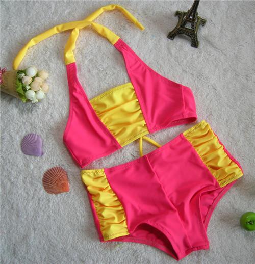 Лето дети в купальный костюм бикини купальник для девочки дети купальник спорт стиль biquini infantil для 2 - 11 лет