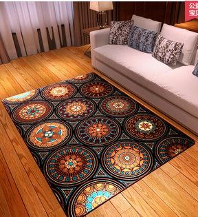 Fashion National Trend Carpet Bed Rug Sofa Blanket Coffee Table Carpet Vintage Fashion Carpet Parlor Hallway Living Room Mat Rug(China (Mainland))