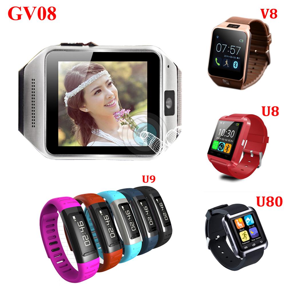 5 /U80 U8 U9 V8 GV08 Bluetooth ( ) Smartwatch iPhone Android Samsung электромагнитный клапан кенарь gv 80 1 дюйм