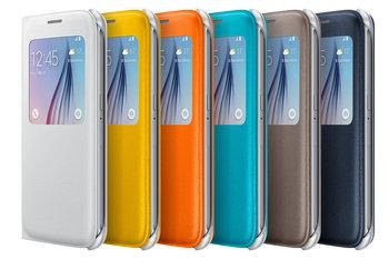 S6 новый оригинальный стиль PU кожаный чехол с открытым окном просмотр откидная крышка для Samsung Galaxy S6 G9200