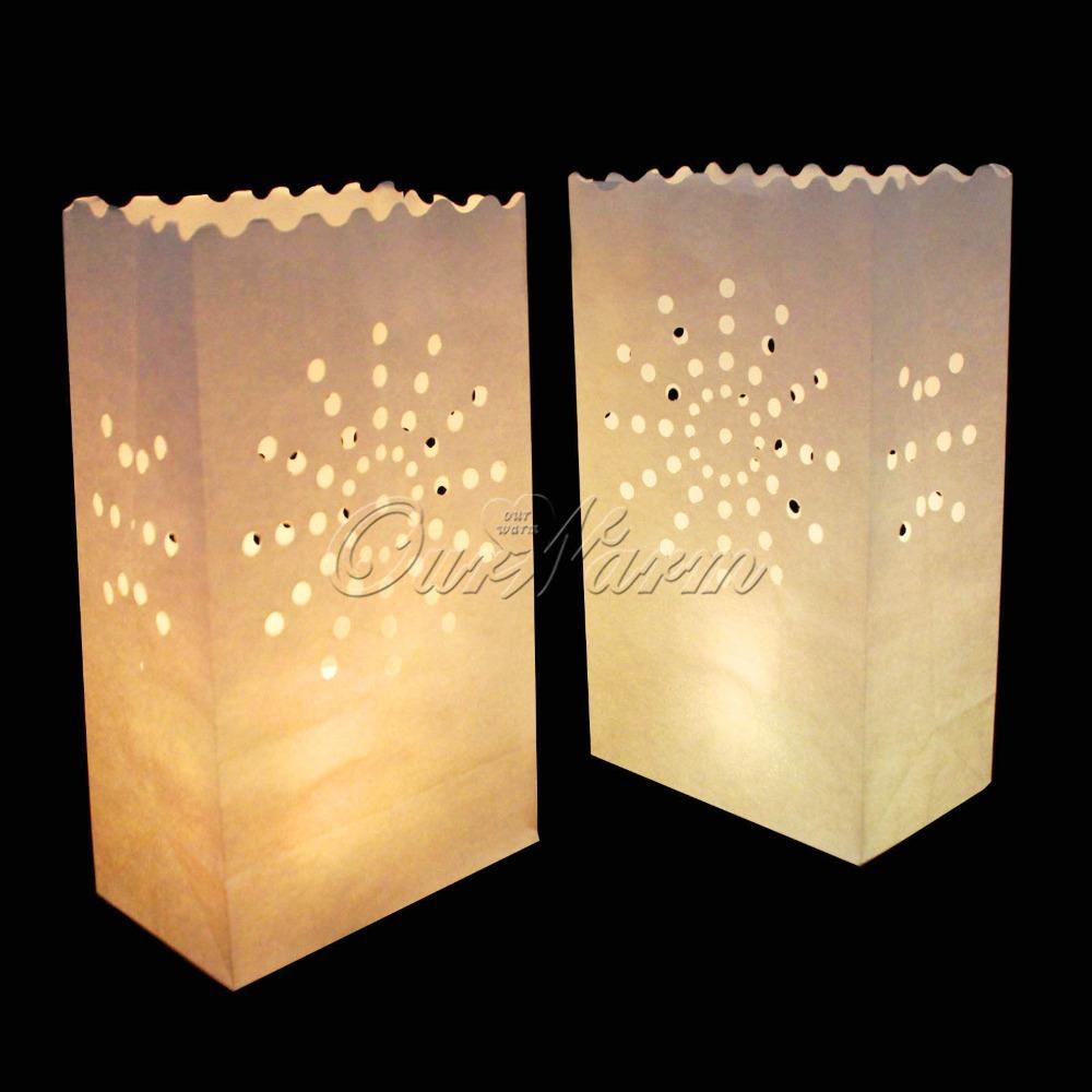 100Pcs/lot Sun Tea light Holder Luminaria Paper Lantern Candle Bag For Christmas Party Wedding Decoration(China (Mainland))