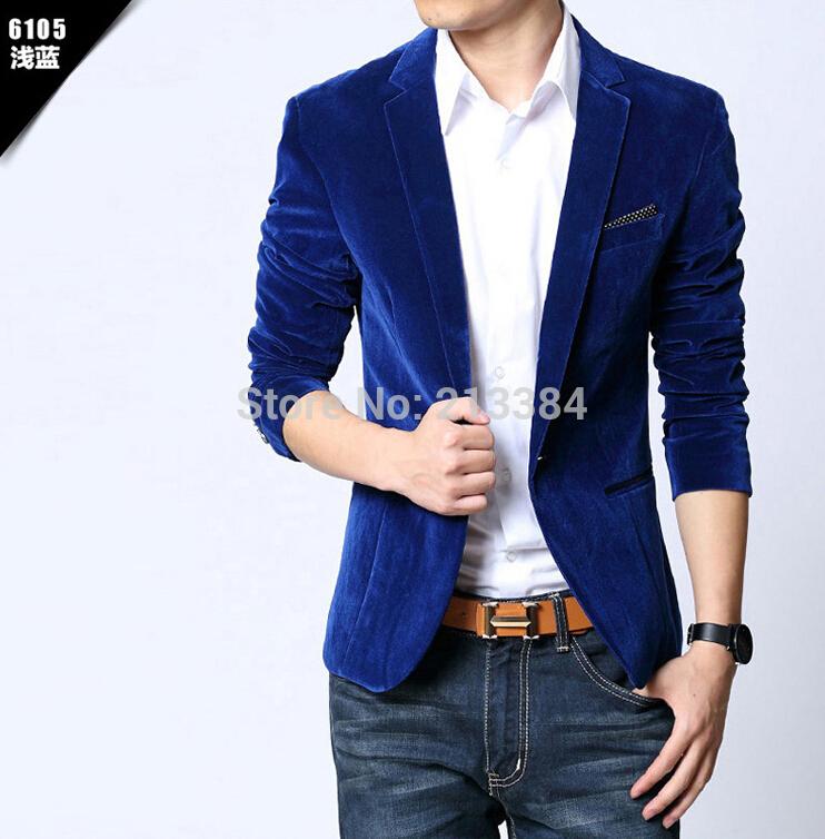 Fashion leisure men's suit jacket pleuche jackets sell like hot cakes in men's jacket(China (Mainland))