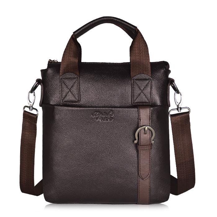 Fashion 2015 leather men famous handbags travel bags men's messenger bags business bandbag free shipping(China (Mainland))