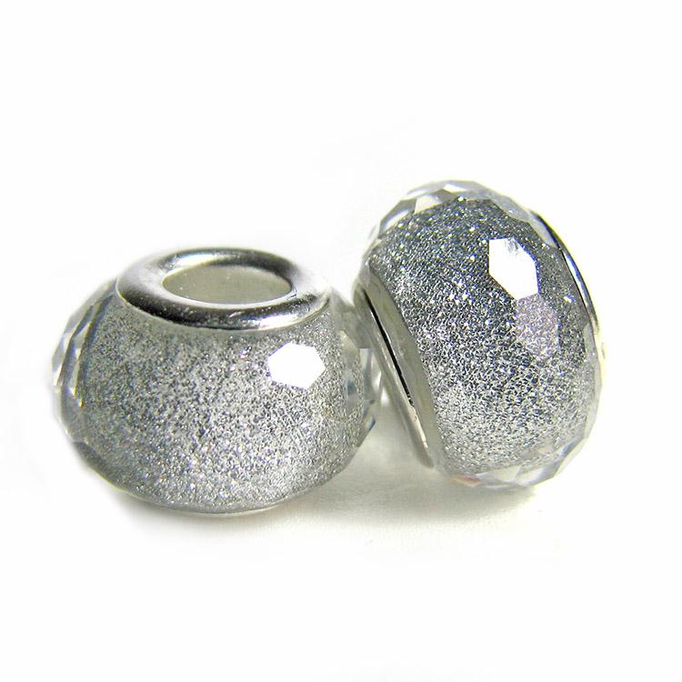 FreeShipping Hot Sale 1PC European Lampwork Glass Beads Murano Silver Charm Bead Fits pandora Bracelets & Bangles GB003(China (Mainland))