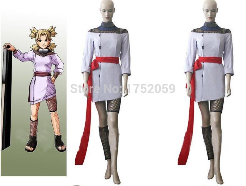 Customized costume Summer dress Hot anime Naruto Temari Chunin Exam costume cosplay woman summer dress(China (Mainland))