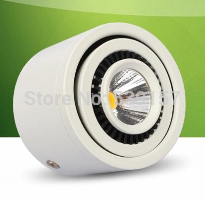 Free Shipping 20PCS10W,7W Warm Cold White Led light AC85-265V white Surface Mounted LED downlight COB down light lamp CE(China (Mainland))