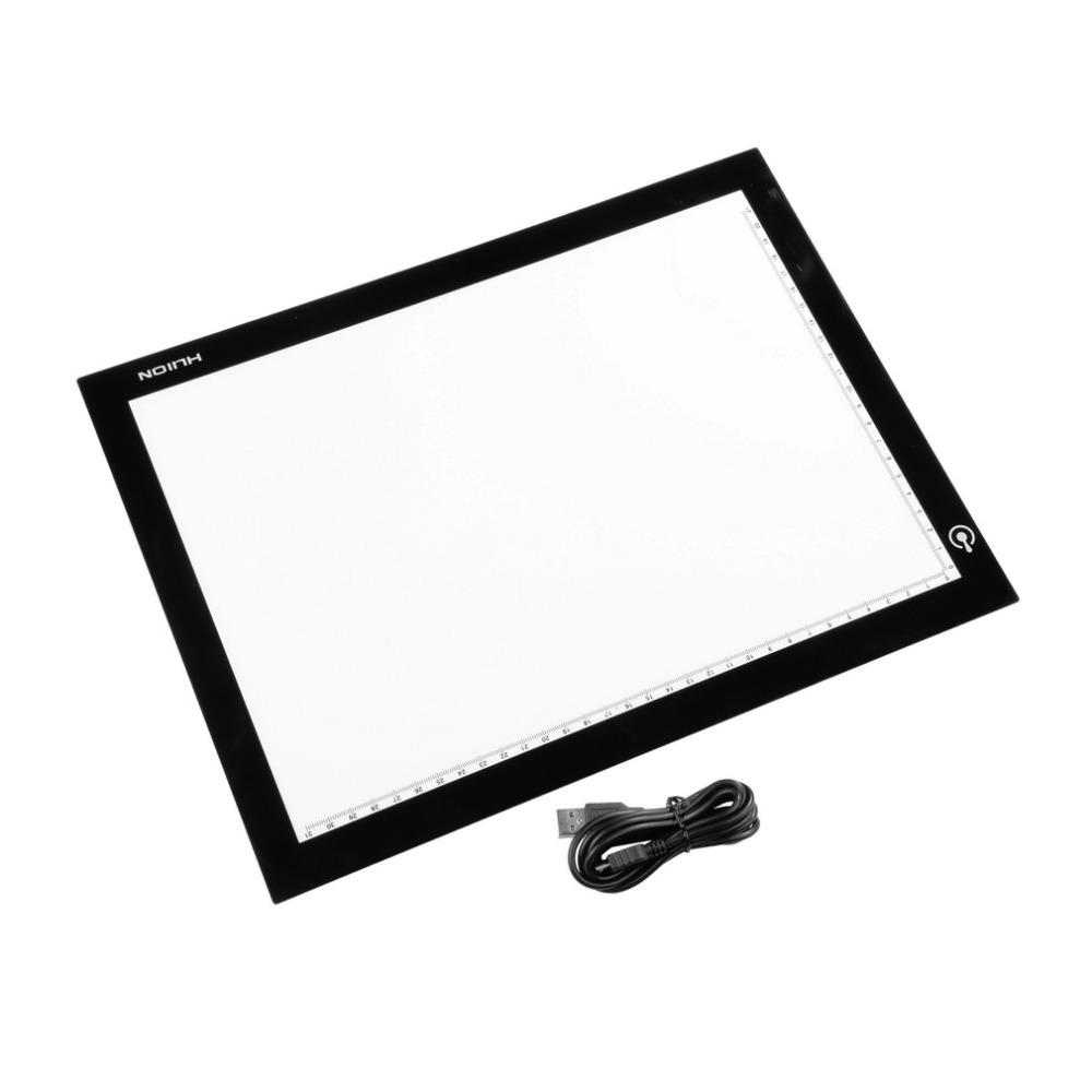 1pcs Wholesale Huion A4 Ultra Thin LED Animation Drawing Stencil Board Table Pad Light Box(China (Mainland))