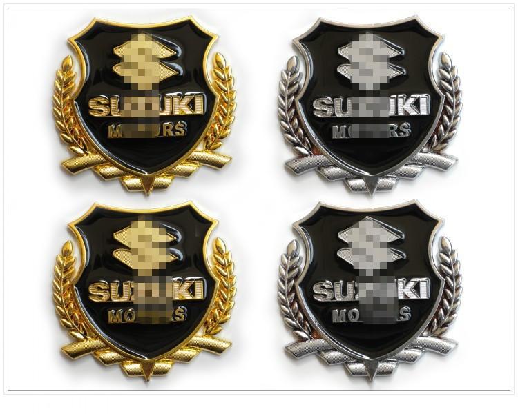 2015 NEW car styling Suzuki Grand Vitara metal logo sticker modified standard column car accessories(China (Mainland))