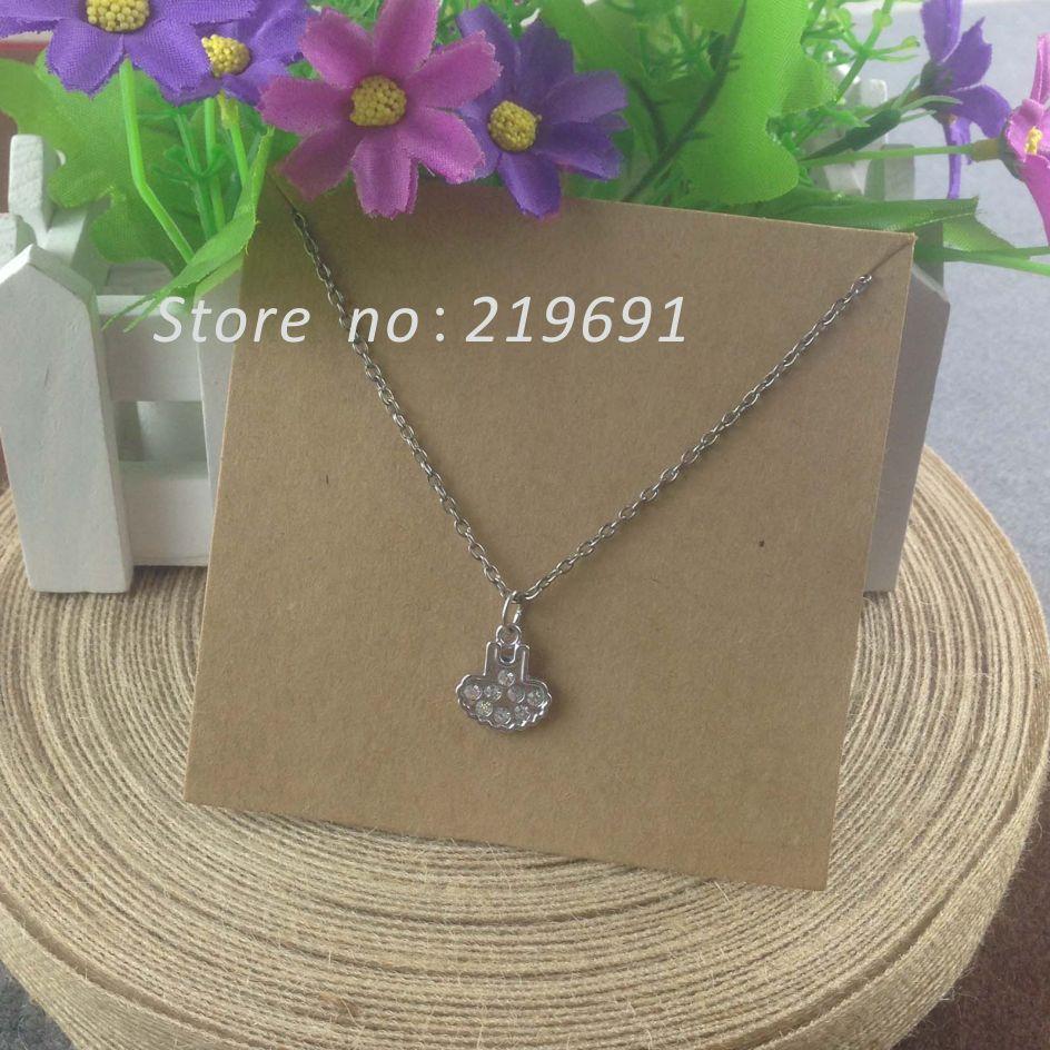 100pcs/lot 10x10cm kraft jewelry card necklaces card kraft cardboard Customize your own logo MOQ:1000pcs jewelry sets(China (Mainland))