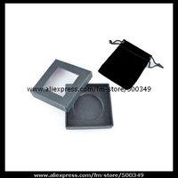 Small Black gift box & black velvet drawstring pouch for bag purse hook hanger