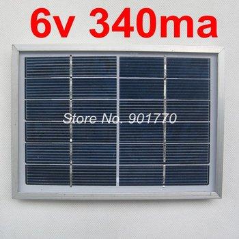 6V 340MA 2W solar panels solar power battery 2watt solar module  charge 3.6v 3.7v battery free shipping