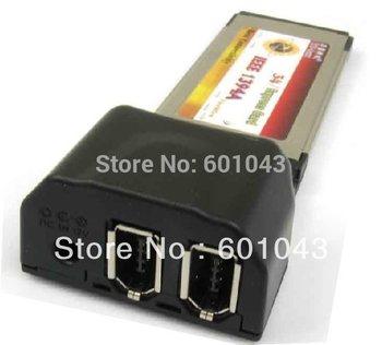 2 Ports Dual 6Pin Firewire 400 34mm/54mm ExpressCard DV capture 1394a JMB chip