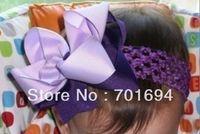 hair accessories  hair bow hairbows hairband hair band head band headband -soft crochet headband with