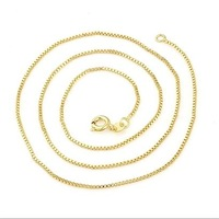 Fashion link chain necklace copper with 18k gold plated necklaces for men and women fashion jewelry sets Free shipping(N18K-26)