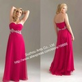 Beautiful Bead Long Chiffon Fat Evening Dress Women FB086