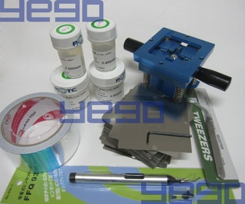 BGA Reballing Station + 100 Stencils (For Notebook)+ Leaded Ball * 4 pcs + AL Tape + Vaccum Pan + Tweezer + BGA Brush