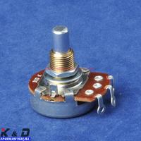 Free Shipping 4pcs/lot B 10K OHM Linear Round Shaft 24mm Potentiometer